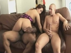 Anal threesome with hot facial culmination
