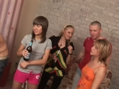 Evi C & Luna & Lydia in lustful college orgy with a beautiful blonde bimbo