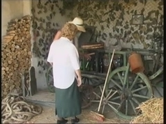 Granny in the barn