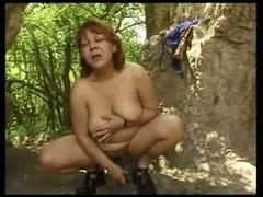 Hot aged Masturbation outside