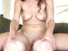 Brunette Blair gets her friend to cum over here pussy