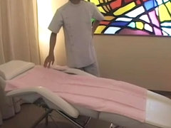 Japanese vixen came for a massage but got fucked really hard