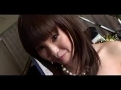 Japanese cutie plays piano and fucks