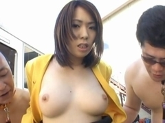 Public Sex With Ringo Kurenai Taking On Tons Of Guys
