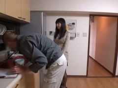 Naughty Japanese AV Model is a horny teacher getting tit fuck