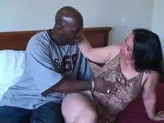 Hot brunette milf gets some black cock