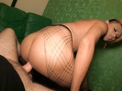 Ladyboy Tao in Spikey Blonde Hair Bombshell