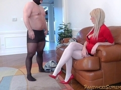 Mastix Alexis tall golden-haired Female-Dominator punishes