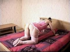 Blonde slut gets a hot spanking and nipple torture
