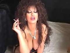 Classic Breasty Cougar Smokin' and Toying
