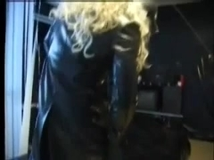 MN - Domina with CD villein in latex. Anal pleasure Part 1