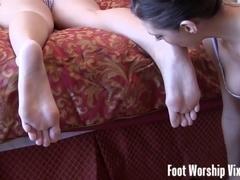 Sneaky foot worship act