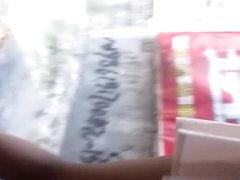 Chinese girl in white skirt voyeur part 2