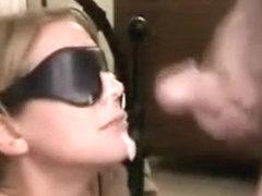 Hot Blonde Blindfolded Oral-Job
