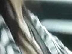 Non-Professional masturbates in car whilst driving