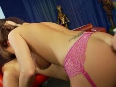 Fabulous pornstar in incredible gangbang, lingerie xxx clip