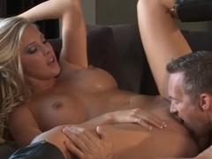 Adorable sexy pornstar Lisa Ann fucks wild with Mick Blue