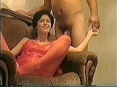 Sucking my lover's throbbing cock