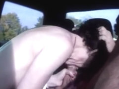 Moaning orgasms on backseat