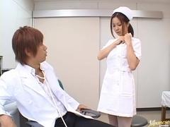 Manaka Kazuki Hot Japanese nurse is kinky