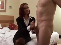 mum punishes and gives handjob not her son