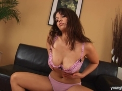 Young Samantha gets nailed and big jugs cummed