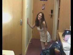 Busty Russian teen Katrina sucks and gets a facial