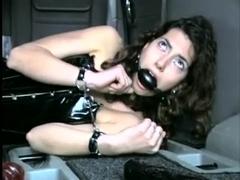 Hot lesbian in a car