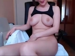 Busty Frenchie Tears Her Pussy A New One