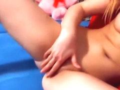Blonde Supershowvip took off her panties