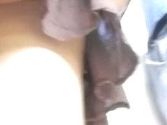 A compelling ass caught on an upskirt video