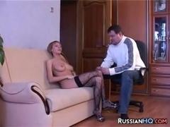 Busty Blonde Russian Slut