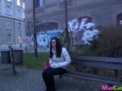 Four amateur girls fucking on public