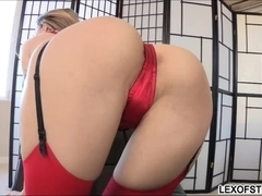 Tight ass of sexy Natasha gets probed and her face plastered with sperm