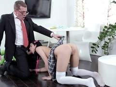 TrickyOldTeacher - Jody fucked hardcore by her tricky old teacher after class