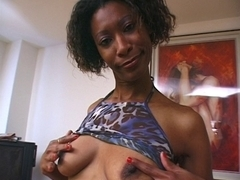 Delightful french African lady