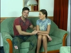 Cute Russian girl Galina and Carlos