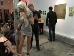 Fuckable Art Big titted blonde fucked in a crowded gallery