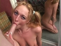 British bitch Donna Marie acquires drilled in the mirror