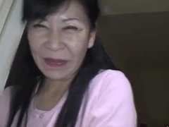 49yr old Granny Maki Shikano receives Creamed (Uncensored)
