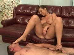 Curvy Courtney Taylor and her sissy serf