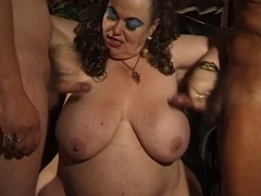 Ugly BBW Enjoys two cocks in a hot threesome
