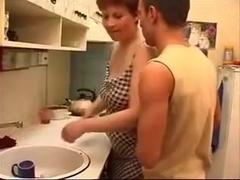 not mother son kitchen creampie