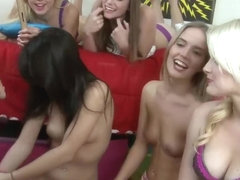 College girls having fun