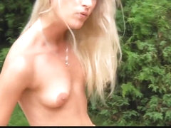 Hot blonde seduce oldman and suck his old rod