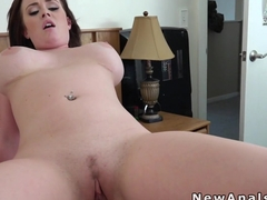 Busty chubby girlfriend gets anal sex