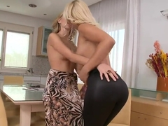 Naughty Berinice licks hot blonde Brandy Smile