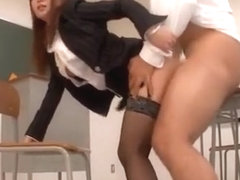Horny Japanese girl in Amazing Lingerie, Stockings/Pansuto JAV clip