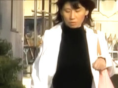 Appealing Asian woman is having sharking meeting in the public