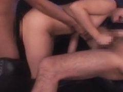 Fabulous Japanese whore Anna Hizaki in Best Threesomes, Facial JAV clip